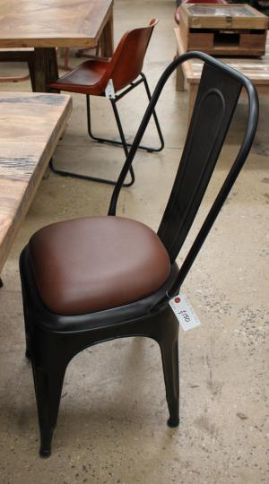 Iron Chair with Leather seat