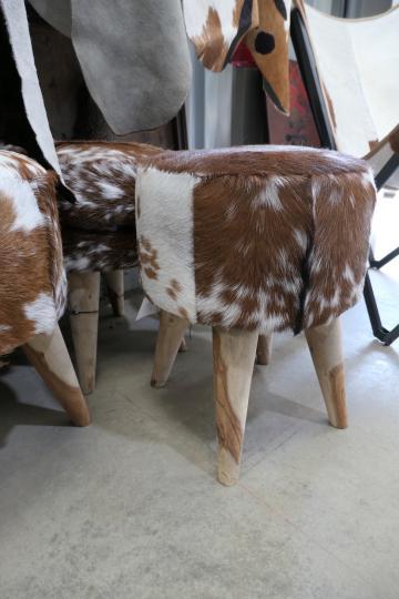 Cow Hide Footstools