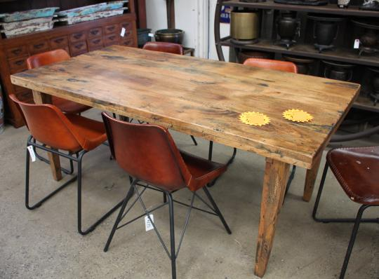 Mango Wood Table with Wooden Base