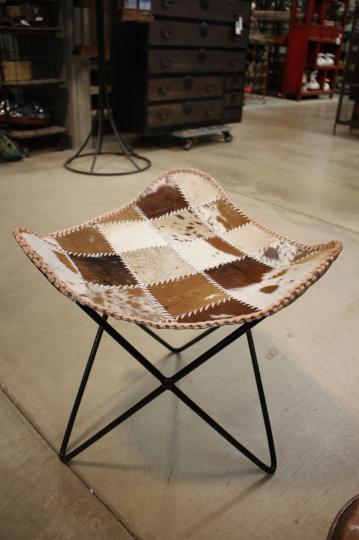 Cow Hide Foot Stool