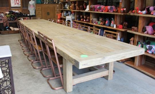 SCRUBBED DINING TABLE