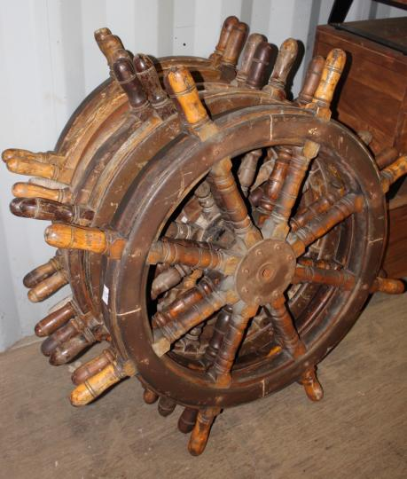 Assorted Vintage Ships Wheels
