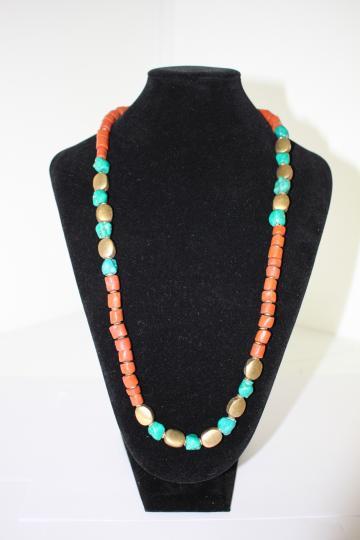 tribal stone necklace
