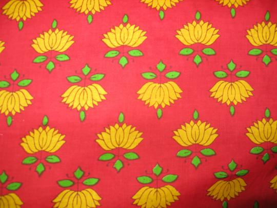 Fabric-yellow lotus