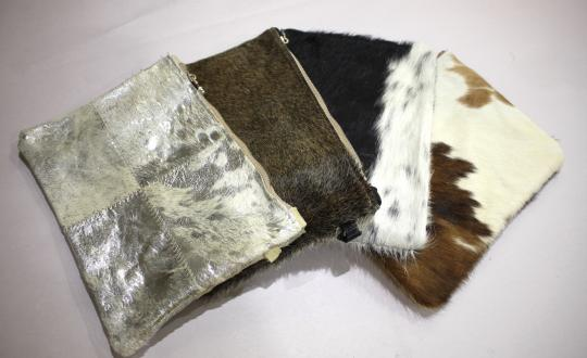 Cow Hide Zip Purse